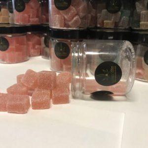 opened CBD gummies jar